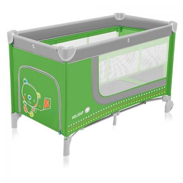 Baby Design Holiday 04 green - patut pliabil cu 2 nivele - BBSBD15HOL04