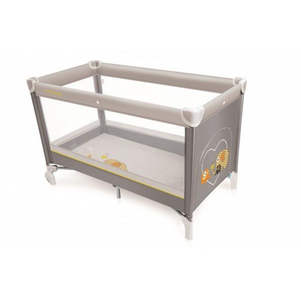 Baby Design Simple 07 Gray 2017 - Patut pliabil - BBSDB17SIM07