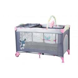 Babygo-Bgo-4403-Patut Pliant Cu 2 Nivele Sleepwell Pink - BBBBGO-4403