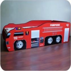 Pat copii Masina de Pompieri 2-8 ani - PC042