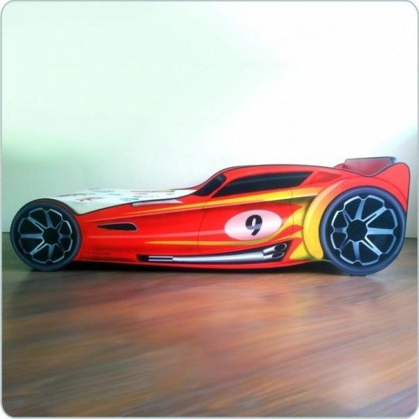 Pat copii masina HotWheels Red 2-8 ani - PC072