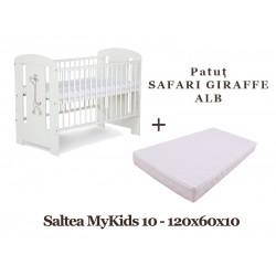 Patut KLUPS Safari Giraffe Alb + Saltea MyKids 10 - MYK00009595