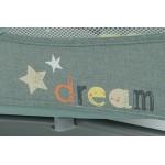 Baby Design Dream 07 Light Grey 2019 - Patut Pliabil cu 2 nivele - BBSBD19DR07