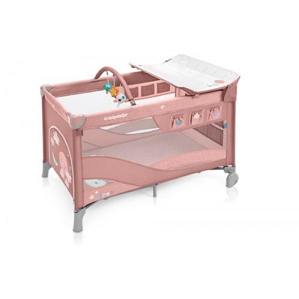 Baby Design Dream 08 Pink 2019 - Patut Pliabil cu 2 nivele - BBSBD19DR08