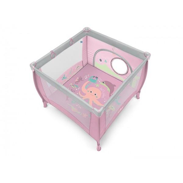 Baby Design Play UP Tarc pliabil 08 Pink 2019 - cu inele ajutatoare - BBSBD19PLUP08
