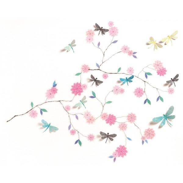 Abibilduri de perete Flori i libelule  - BRBDD05000