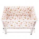 BabyNeeds - Lenjerie patut 2 piese 90x50 cm, Ursuleti jucausi, Alb-Rosu - BYNBN162