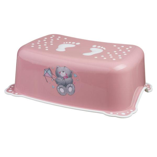 Taburet copii MyKids Bears Pink-White antialunecare - MYK00071363