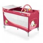 Baby Design Dream 02 raspberry 2014 - Patut pliabil cu 2 nivele - BBSBD14DR02
