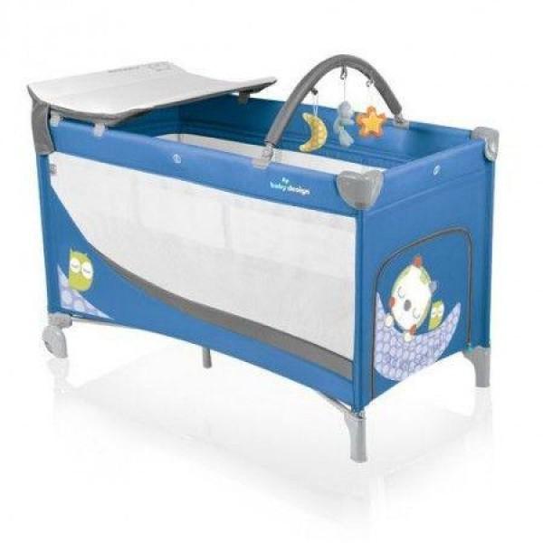 Baby Design Dream 03 blue 2014 - Patut pliabil cu 2 nivele