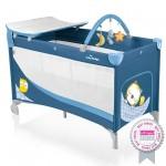 Baby Design Dream 03 blue 2015 - Patut pliabil cu 2 nivele - BBSBD15DR03