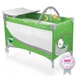 Baby Design Dream 04 green 2015 - Patut pliabil cu 2 nivele - BBSBD15DR04