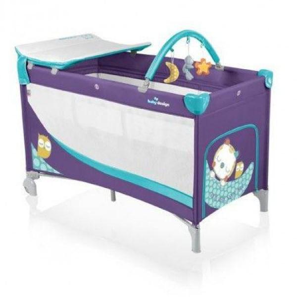 Baby Design Dream 06 purple 2014 - Patut pliabil cu 2 nivele