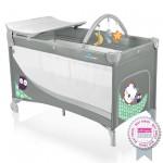 Baby Design Dream 07 grey 2015 - Patut pliabil cu 2 nivele - BBSBD15DR07