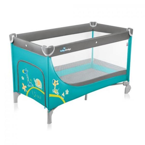 Baby Design Simple 05 turquoise - Patut pliabil - BBSBD15SI05