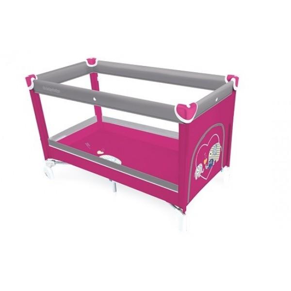 Baby Design Simple 08 Pink 2017 - Patut pliabil - BBSDB17SIM08