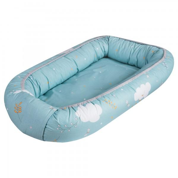 Baby Nest reversibil, multifunctional pentru bebelusi, Airy Sea, 70 x 45 cm - PJB80416